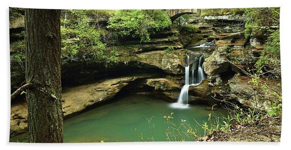 Upper Falls, Hocking Hills State Park 2 Beach Towel