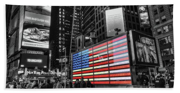 U.s. Armed Forces Times Square Recruiting Station Beach Towel