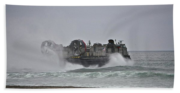 Us Navy Hovercraft Beach Towel