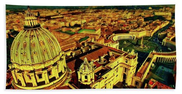 Vatican City Rome Italy Beach Towel