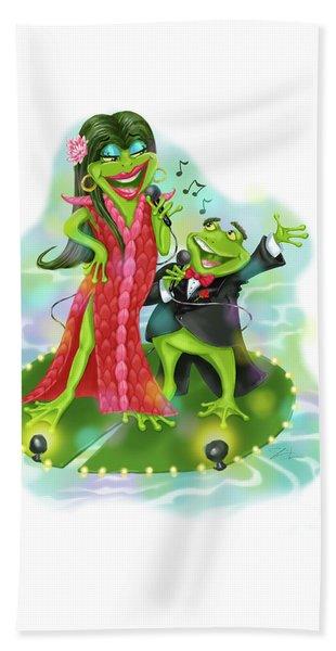 Vegas Frogs Lounge Act Beach Towel