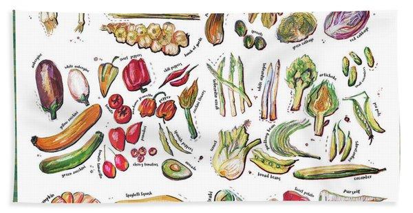 Vegetable Encyclopedia  Beach Towel