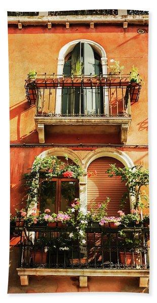 Venetian Windows Beach Towel