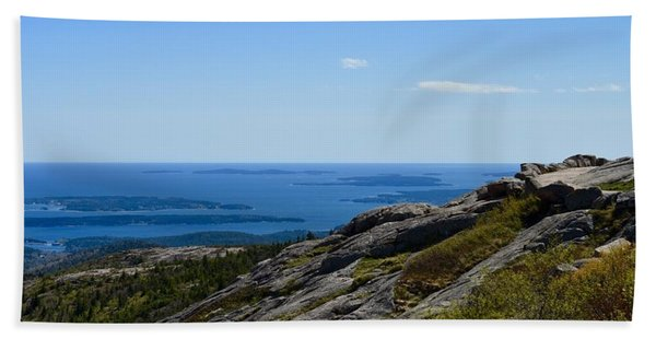 View From Cadillac Mountain Beach Sheet