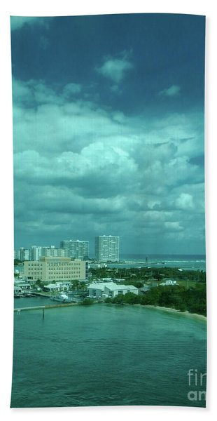View From Port Everglades Beach Towel