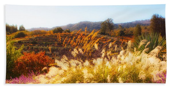 Beach Towel featuring the photograph Vineyard Afternoon By Mike-hope by Michael Hope