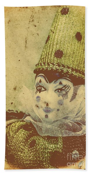Vintage Circus Postcard Beach Towel