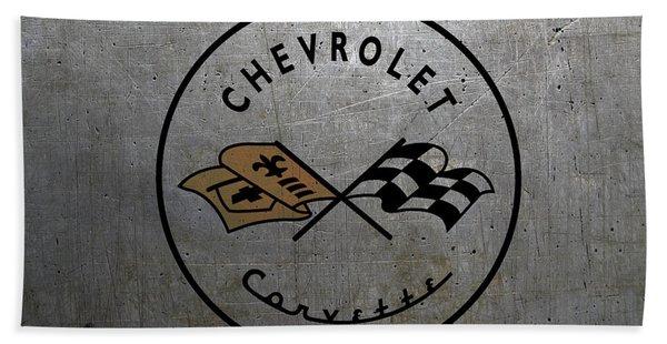 Vintage Corvette Logo Beach Towel