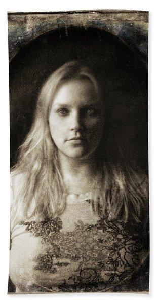 Vintage Tintype Ir Self-portrait Beach Sheet