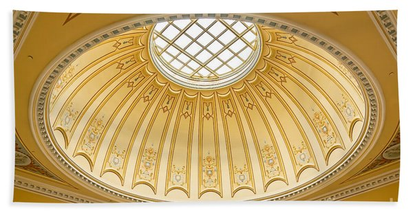 Beach Towel featuring the photograph Virginia Capitol - Dome Profile by Jemmy Archer