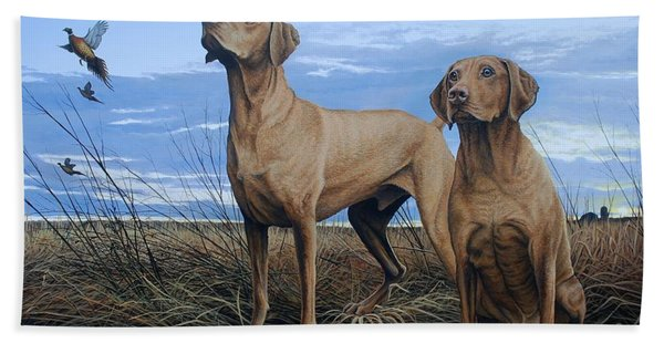 Vizslas Beach Towel