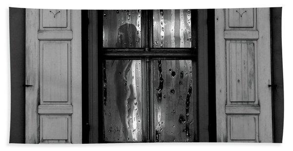 Voyeurism - Nude In Window Beach Towel
