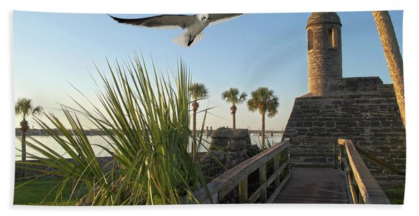 Walk To The Fort Beach Towel