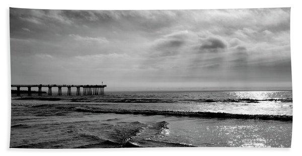 Walking By Hermosa Beach Towel