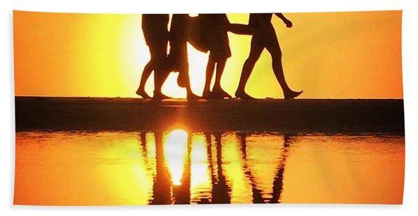 Walking On Sunshine Beach Towel