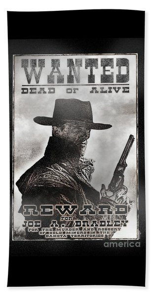 Wanted Poster Notorious Outlaw Beach Towel