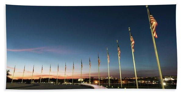 Washington Monument Flags Beach Towel