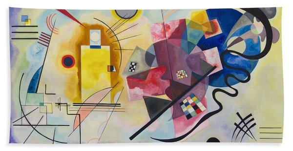 Wassily Kandinsky,jaune Rouge Bleu Beach Towel