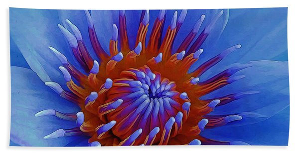 Water Lily Center Beach Towel