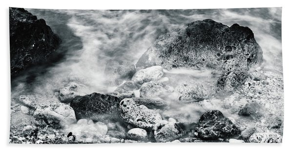 Water Rocks Beach Towel