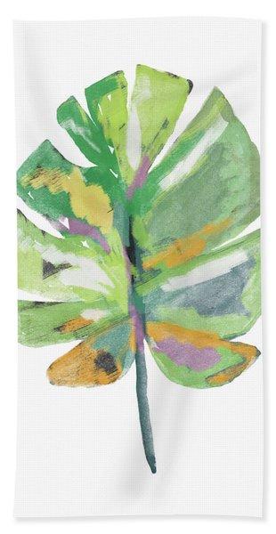Watercolor Palm Leaf- Art By Linda Woods Beach Towel