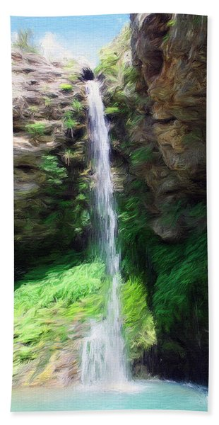 Waterfall 2 Beach Towel