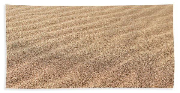 Waves In The Sand Beach Towel
