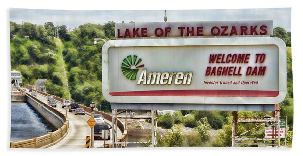 Welcome To Bagnell Dam Beach Towel
