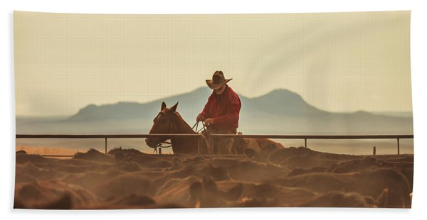 Western Singe Beach Towel