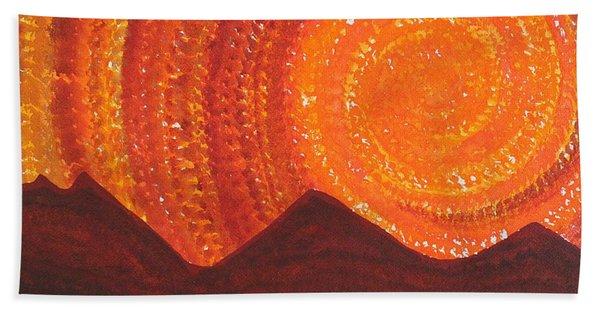 Western Sky Wave Original Painting Beach Towel