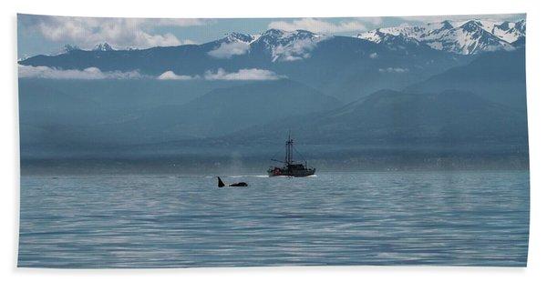 Whale Watching In The Strait Of Juan De Fuca Beach Towel