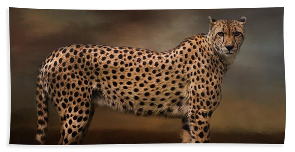 What You Imagine - Cheetah Art Beach Sheet