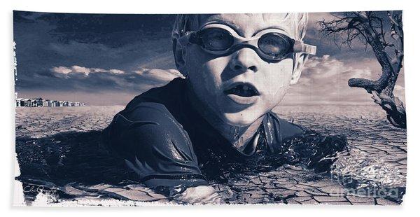 Where Will He Swim Tomorrow Beach Towel