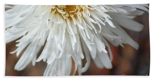 White Pure Flower Beach Towel