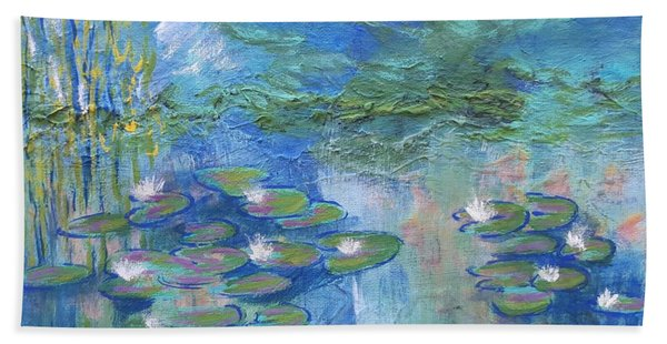 White Water Lilies Beach Towel