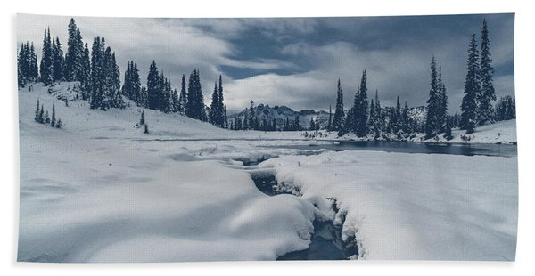 Whiteout Beach Towel