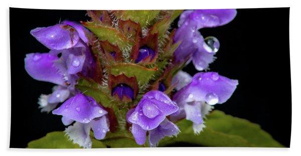 Wild Flower Portrait Beach Towel
