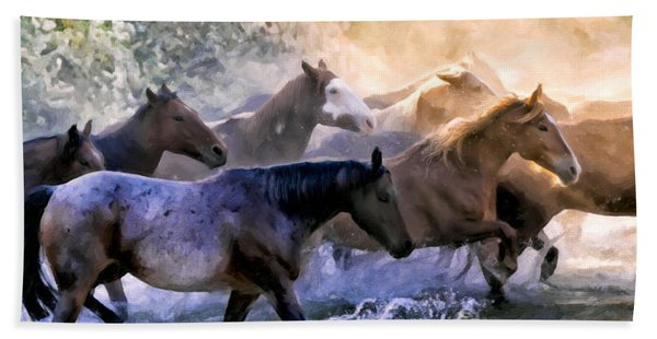 Wild Herd Beach Towel