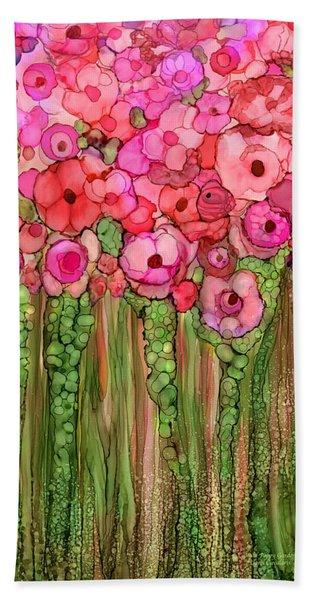 Wild Poppy Garden - Pink Beach Sheet