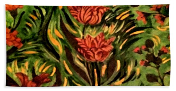Wild Tulips Beach Towel