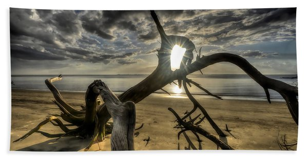 Window To The Sun Beach Towel