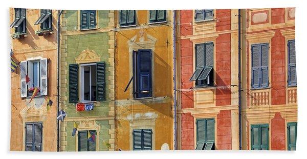 Windows Of Portofino Beach Towel