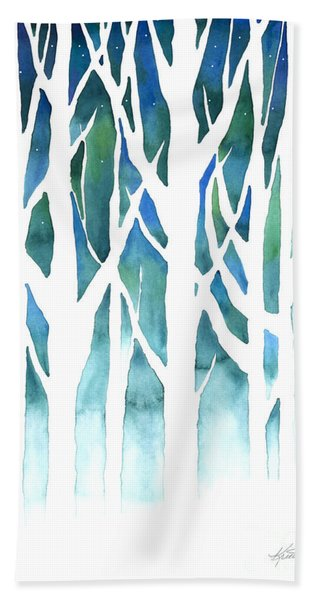 Winter Silhouette Beach Towel