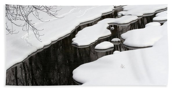 Winter Stream  Beach Towel