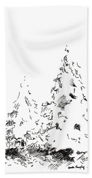 Winter Trees 1 - 2016 Beach Towel