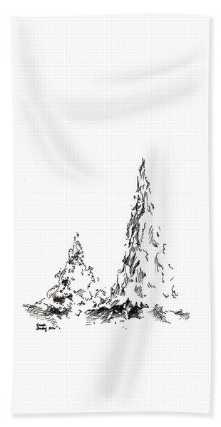 Winter Trees 2 - 2016 Beach Sheet