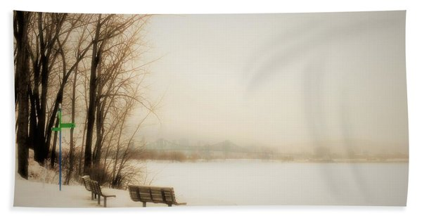 Winter View Over Montreal Beach Towel