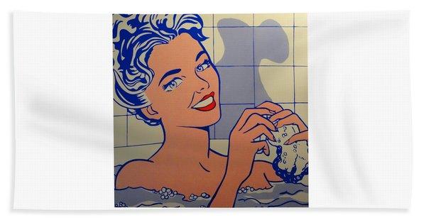 Woman In Bath Beach Towel
