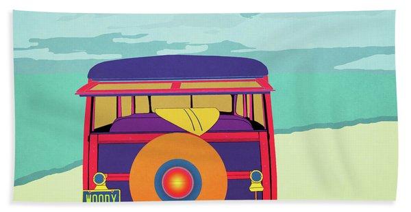 Woody At The Beach 2 Beach Towel