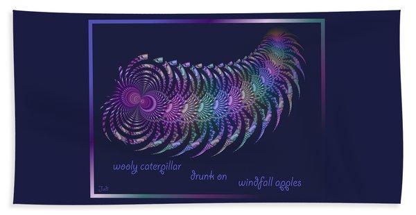 Wooly Caterpillar Haiga Beach Towel